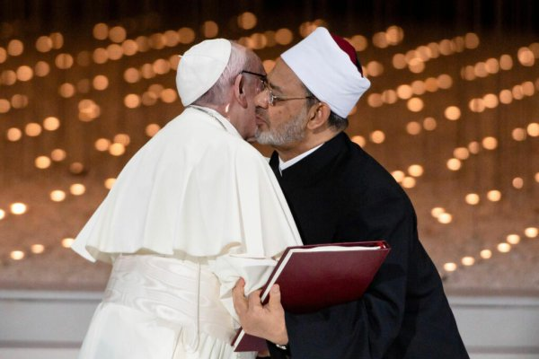 Papst Franziskus und Großimam Ahmad Mohammad Al-Tayyeb