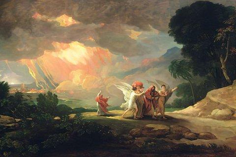 Benjamin West (1810): Lot flieht aus Sodom