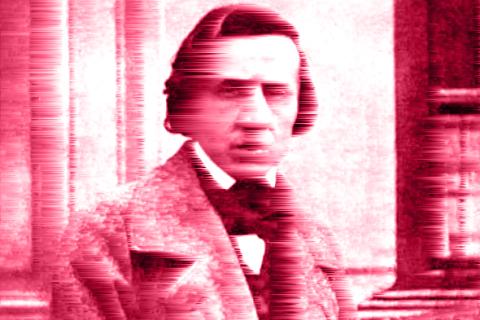 Frederic Chopin stilisiert