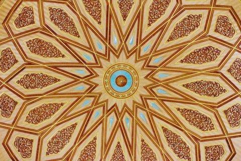 Innenkuppel der Prophetenmoschee in Medina