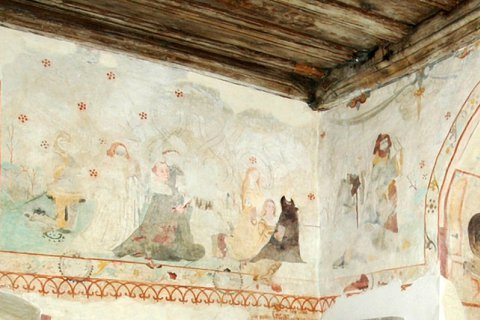 Wernburg Wandmalerei