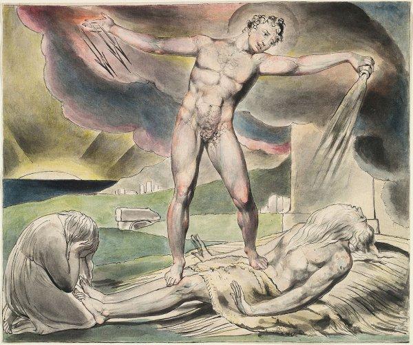 Satan schüttet die Plagen über Hiob